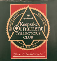 Hallmark Keepsake Ornament Collectors Club 1988 Our Clubhouse with box