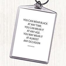 Noir Blanc CHRISTIAN DIOR wear noir Citation Sac Tag Keychain Keyring