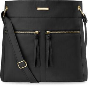 groß Damentasche Handtasche Shopper Schultertasche schwarz