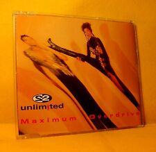 MAXI Single CD 2 UNLIMITED Maximum Overdrive 5TR 1993 eurodance