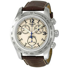 Tissot T-Sport V8 Men's 43mm Chronograph Brown Leather Quartz Watch T36131672
