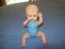 "VTG Celluloid 6-1/2"" Boy Baby Doll Sleepy Open/Close Eyes- Moveable Arms & Legs"
