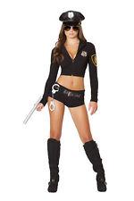 Roma Costume USA 4500 7pc Officer Hottie Costume Black M/l