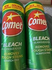 2 Pack Comet All Purpose Cleaner Powder with Bleach 21 Oz Each