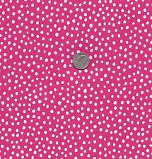 FAT QUARTER:  QUILT FABRIC: 100% COTTON, FUNNY DOTS, FUCHSIA  FD-03