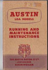 1955 AUSTN LDA COMMERCIAL VEHICLE MODELS BMC Owners Handbook - Unused