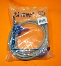 DSWCBXCPS206E 8 Foot Long HD15M/M (2)PS/2 SV KVM Graphics & Sound Cable  - NEW