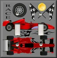 Metal Light Switch Plate Cover - Boys Room Race Car Decor Racing Car Decor