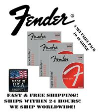 *Fender 3250R Regular Electric Guitar Strings (10-46 Gauge, 3 Individual Packs!)