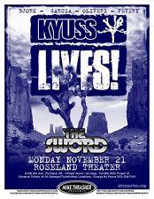 KYUSS LIVES! 2011 Gig POSTER Portland Oregon Concert