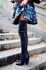 ZARA velluto al ginocchio tacco alto stivali numero EUR 36 38 39 40
