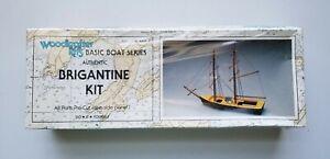 Woodkrafter Kits Basic Boat Series Authentic BRIGANTINE Model KIT No.107
