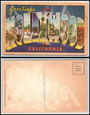 CALIFORNIA Postcard - Greetings From Hollywood M26