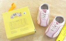 Leather baby shoes pink & white size 6-12 months NEW