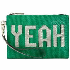 """NEW CIRCUS BY SAM EDELMAN Green """"DENY YEAH"""" Wristlet Clutch - 50% OFF"""