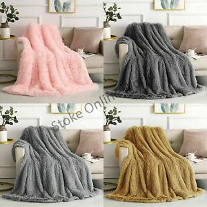 Long Pile Fluffy Teddy Faux Fur Soft & Cuddly Throws Blankets Large 150 x 200 cm