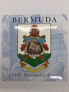 1997 Bermuda Triangular Coin Cupro-Nickel Original Packaging Uncirculated