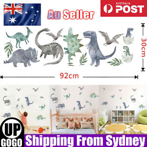 Removable Wall Decals Nursery Kids Room Baby Watercolour Dinosaur Wall Stickers