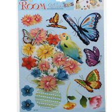 3D Kinder Wandsticker Wanddeko Wandtattoo Wandaufkleber Schmetterling Blumen