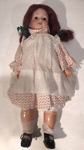 "Antique C M Bergmann Waltershausen 1916 20"" Doll Porcelain & Composition Jointed"