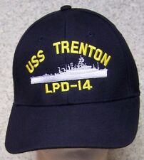 Embroidered Baseball Cap Military Navy USS Trenton NEW 1 hat size fits all