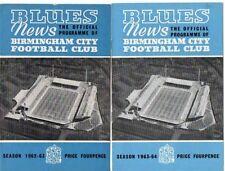 Birmingham City Teams A-B Football League Fixture Programmes