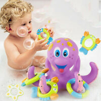 Baby Toy Bath Nuby Octopus Floating Tub 3 Rings Toss Toddler Child Gift Fun`P G3