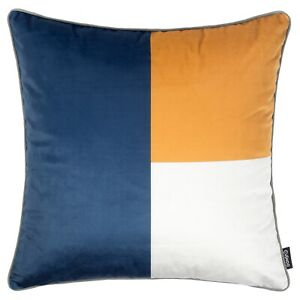 Geometric Cushion Mustard Yellow Navy Blue Grey Pillow Cover Sofa Top 45cm 18in