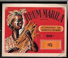 Ancienne Etiquette - - Alcool - - Rhum Marila 30°- - N°368a