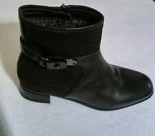 Aquatalia Women Leather/Goosbump Black Ankle Boots Size 6 SALE!