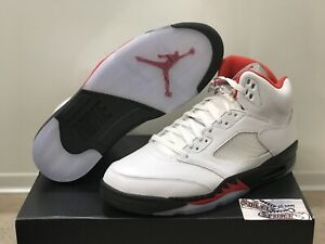 New Nike Air Jordan 5 V Retro Fire Red Silver Tongue 2020 DA1911-002 Mens 11