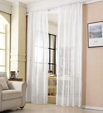 Gardinen Stores Kräuselband Vorhänge transparent Schal Voile Leinen Optik #630