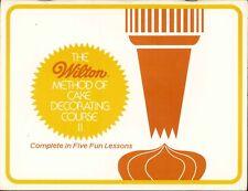 Wilton Cake Decorating Course II 1982 Design Fancy Flowers Lacework Color Flow