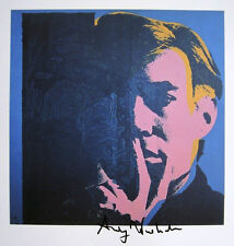 "ANDY WARHOL ""Self-Portrait"" 1982 Hand Signed Print"