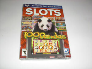 IGT SLOTS 100 PANDAS Includes 20 Slots PC & Mac DVD-ROM - New-Other
