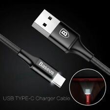 LED Light USB-C 3.1 Type C Fast Sync Data Charger Cable For Samsung S9 S8+ Note8