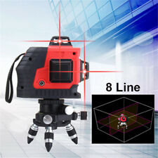 360° Rotary 8 Line Laser Self Leveling Vertical Horizontal Level Red Measure Kit
