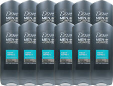 12 x 400ml Dove Men +Care Aqua Impact Duschgel Body and Face Wash