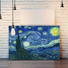 Van gogh Starry Night CANVAS WALL ART ARTWORK 30MM DEEP FRAMED PRINT Bedroom