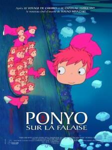 Poster Ponyo on The Cliff On by the Sea Hayao Miyazaki Ghibli #3