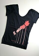 Mambo Ladies T-Shirt Top, Black, Palm Trees, Surf Skate Snow, Womens, XS UK 8