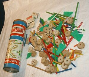 PARTIAL MIXED TINKERTOY PIECES LOT -AS IS-