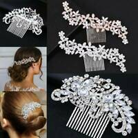 Wedding Rhinestone Hair Pins Clip Bridal Diamante Crystal Pearl Slide Comb Lady