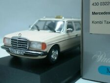 WOW EXTREMELY RARE Mercedes W123 200TD Break Taxi 1:43 Minichamps-230/300/450/E9