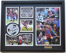 New Lionel Messi Signed FC Barcelona Argentina Limited Edition Memorabilia
