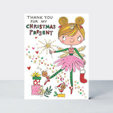 Rachel Ellen Mini Christmas Thank You For My Present Cards With Glitter - 5 Pack