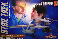 Star Trek USS Enterpirise Twin Set Model Construction Kit AMT 2015