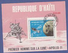 G4) République d'Haïti APOLLO 11 Premier homme sur la lune 1969 Port-au-Prince