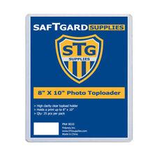 75 New Saftgard 8 x 10 Hard Plastic Rigid Topload Photo Holders 8x10 toploaders