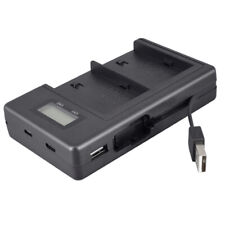 New LCD Display Dual Channel USB Battery Charger For Sony Camera NP-F970 Battery